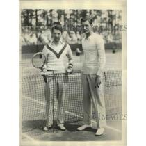 1931 Press Photo John Van Ryn, Davis Cup Players in Semi-finals Tournament