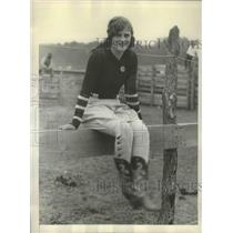 1930 Press Photo Grace Runyan world's greatest woman horseback rider Lawrence KS
