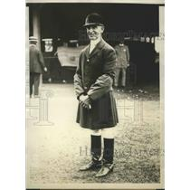 1929 Press Photo Arthur Red Coat Murray, 54 years old, Oldest Jockey in World