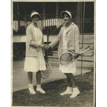 1929 Press Photo Sarah Palfrey and Helen Marlowe in Girl's National Tennis Match
