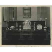 1947 Press Photo Interior of Temple Emanuel-El in Birmingham, Alabama