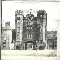 1912 Press Photo St. James's Palace, London