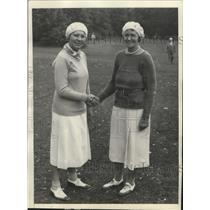 1931 Press Photo Mrs. O. S. Hill & Leona Pressler, Women's Western championship