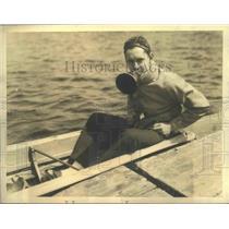 1933 Press Photo Roger Firestone son of tire magnate with Princeton crew