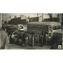 1942 Press Photo Jefferson County Civilian Evacuation in Birmingham, Alabama