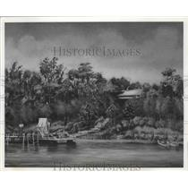 1917 Press Photo Painting Depicting Bellingrath Gardens in Mobile, Alabama