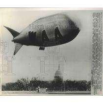 1947 Press Photo Barrage Balloon Property of War Assets Administration