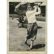 1930 Press Photo Ira Couch, finalist in the Western Amateur championship