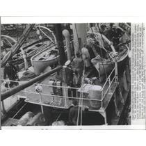 1941 Press Photo Ketch Busko electrical equipment seiz