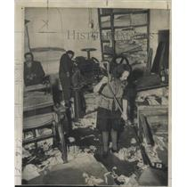 1947 Press Photo Printing Office girl Warsaw Poland