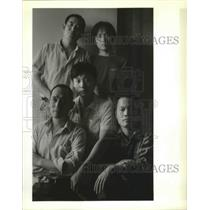 1989 Press Photo Refugees, New Orleans-Five Chinese seaman seek political asylum
