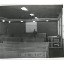 1940 Press Photo Harding Police Court Room