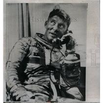 1962 Press Photo Astronaut Walter Marty Schirra Jr