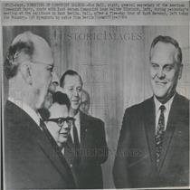 1966 Press Photo Gus Hall America communist Party Boss