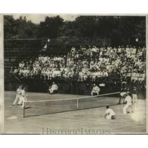 1929 Press Photo National Doubles Tennis at Longwood Cricket Club, Chestnut Hill