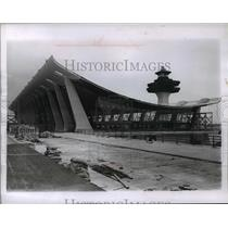 1962 Press Photo Dulles Airport Terminal Under Construction, Virginia