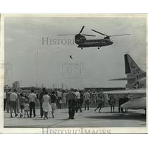 1968 Press Photo One of four stars of Air Ag '68 helicopter at Summerfest