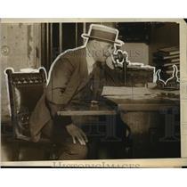 1921 Press Photo Tex Rickard, Promoter, World Championship Heavyweight Bout, NY