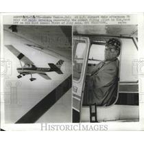 1970 Press Photo Waldo Waterman takes off on his 61st annual 1st of July solo