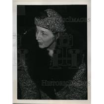 1939 Press Photo New York Mrs Edith Sztoloman aboard liner Kungsholm NYC