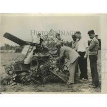 1929 Press Photo Failure of Carry Parachute Cost the Life of C.E. McGillan