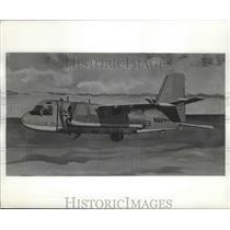 1959 Press Photo Artist concept of U.S. Navy Warfare Airplane Grumman S2F-3