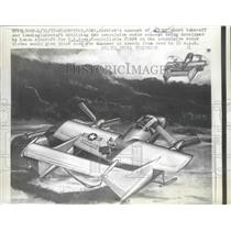 1957 Press Photo Artist Concept of STOL Aircraft for the United State Navy