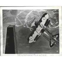 1941 Press Photo Victor Morande Student at Hartley House Rendered Dive Bomber