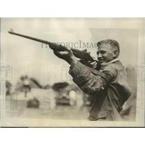 1929 Press Photo Arthur Ferguson JR Rifle Championship winner in Ohio
