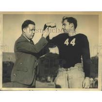1932 Press Photo Blind Chiropracter Daniel Hurley & Wayne Pendleton, California