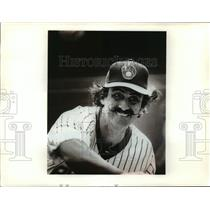 1981 Press Photo Brewers Baseball Player Rollie Fingers - mja57923