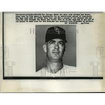 1960 Press Photo Ray Moore, Chicago White Sox Pitcher, Headshot - mja57993