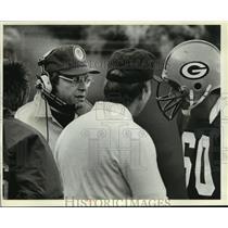 1980 Press Photo Green Bay Packers' Defensive Coordinator, John Meyer, Talking