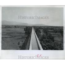 1975 Press Photo Aqueduct in Honan Province, China - mja55026