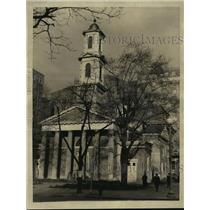 1933 Press Photo St. John's Episcopal Church Roosevelt Prays Before Inaugural
