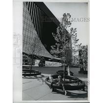 1974 Press Photo Nicollet Mall in Minneapolis, Minnesota - mja54527