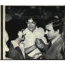 1976 Press Photo California Governor Edmund Brown Junior John Hopkins University