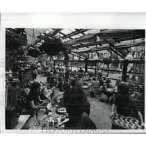1977 Press Photo Quincy Market's Glass Canopies Create Indoor-Outdoor Effect
