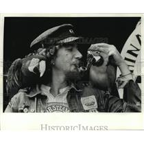 1991 Press Photo Steve Bunker of the China Sea Marine Trading Company, Baltimore