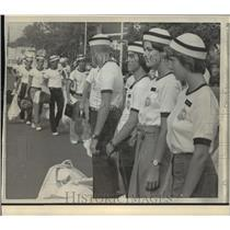 1978 Press Photo US Naval Academy Induction Annapolis, Maryland - mja55192