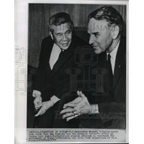 1964 Press Photo South Vietnamese Premier, Tran Van Huong at His Saigon Office