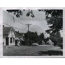 1963 Press Photo Calm Business Center of Hyannis Port, Massachusetts - mja55300