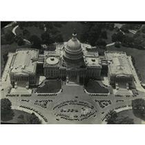 1932 Press Photo Air Photo of the Washington, D.C. Capitol Building - mja55757