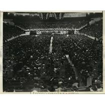 1934 Press Photo General View of the Crowd at Madison Square Garden in New York