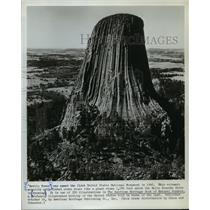 1963 Press Photo Devils Tower was Named First United States Monument in 1906