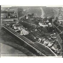 1935 Press Photo San Quentin prison grounds Warden
