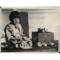 1925 Press Photo Naomi Nakato Japanese grl at Women's College to raise funds