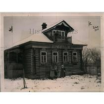 1921 Press Photo Country home at Troitza Russia for Mihael Kalenin - neo01984