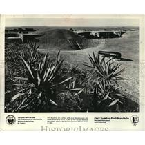 1976 Press Photo Fort Moultrie in South Carolina - mja60507
