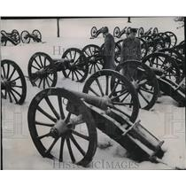1952 Press Photo Field Cannon's of Continental Army in the Valley Forge, Pa
